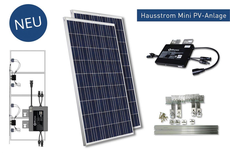 Solar-Anlagen Hausstrom Mini-PV