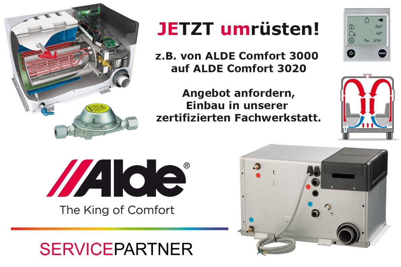 ALDE Austausch Heizung Compact 3000 auf 3020